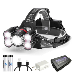 Super bright LED Headlamp 1 x T6+40 x 2835LED Headlight 4 lighting modes With intelligent light sensing For camping, fishing