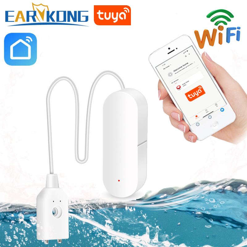 EARYKONG Water-Leakage-Sensor Tuya Wifi Smart Tuyasmart/smart-Life-App with Easy-Installation title=