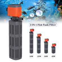 AQUARIUM-FILTER Air-Pump Fish-Tank Air-Oxygen 40W 3-In-1 Increase Circulating 18/25/30/40w