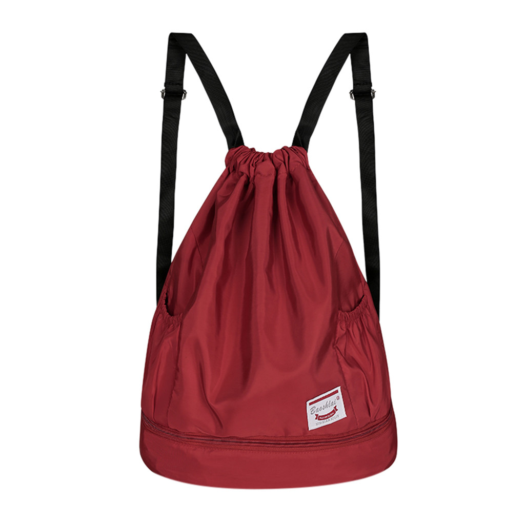 Nerxy Gymnastics Grip Bag Running Belgian Malinois Drawstring Bag Sports Equipment Bag Reusable Stuff Sack for Girls /& Women