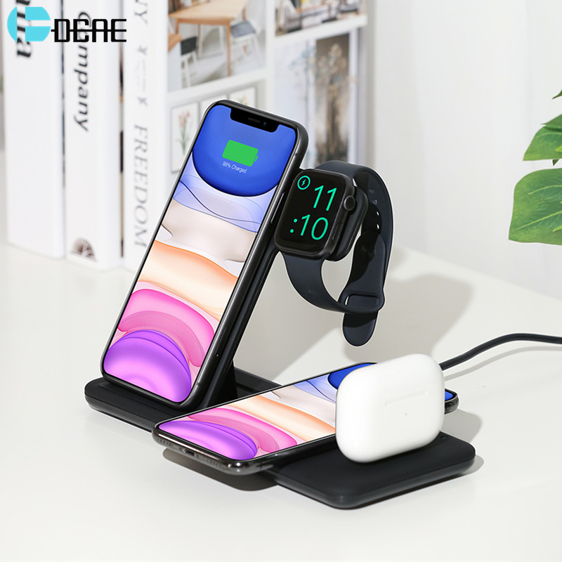 Wireless-Charger Apple Watch iPhone 11 Fast For Samsung Qi 15W Pro Xs Max Xr-X-8/4-In-1 title=