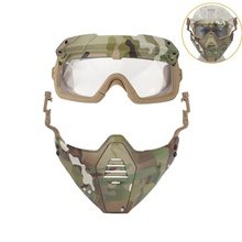 Motorcycle Goggle Mask Paintball-Glasses Cycling/halloween-Mask Tactical with Detachable