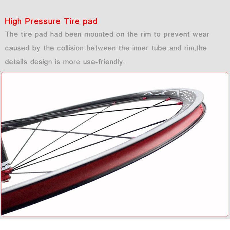 RXR 700C Bike Wheelset Carbon Hub Road Bike Bicycle F&R Wheels Wheelset Clincher Sealed Bearings 7-11 Speed V Brake (14)