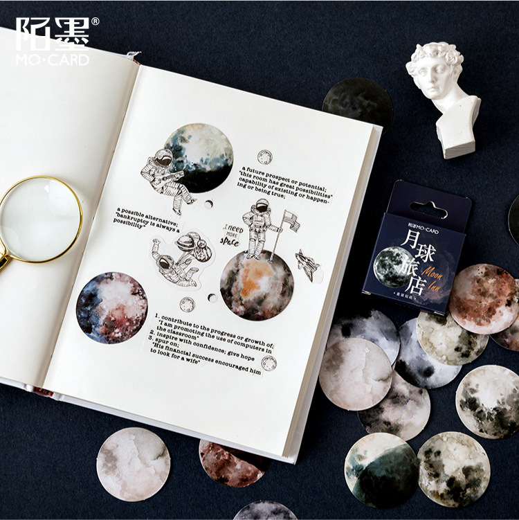 45pcs/box Moon inn series  Decorative Stationery mini Stickers set Scrapbooking DIY Diary Album Stick Lable