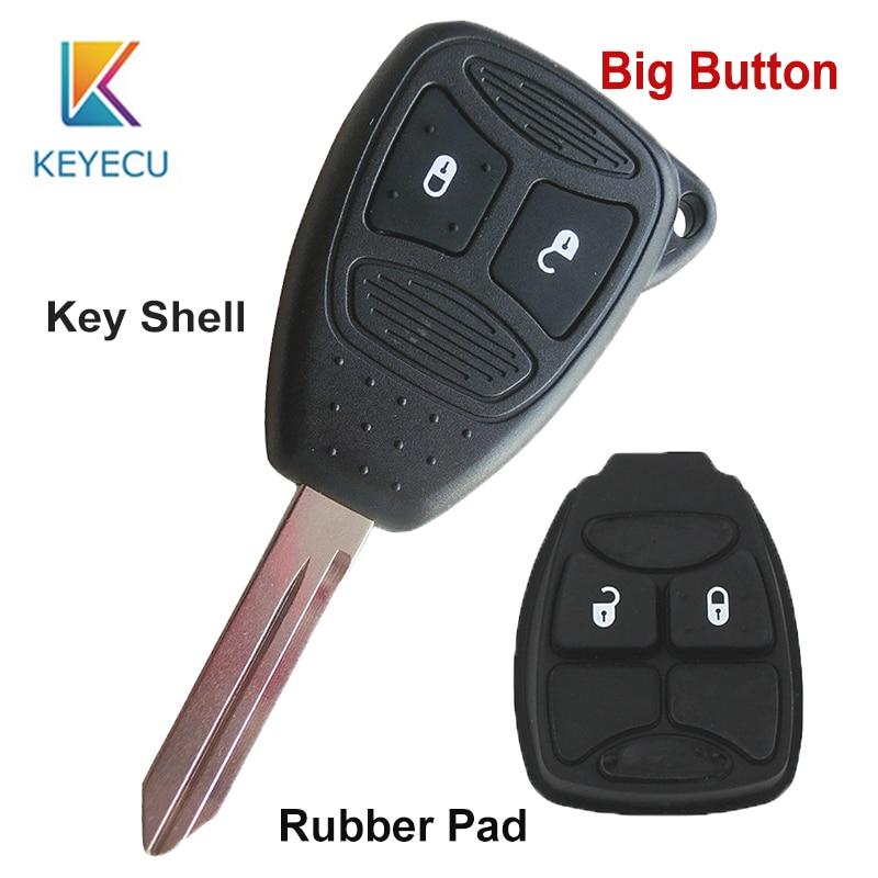 Car Key Fob Remote Shell Case Pad For 2003 2004 2005 2006 Chrysler Sebring