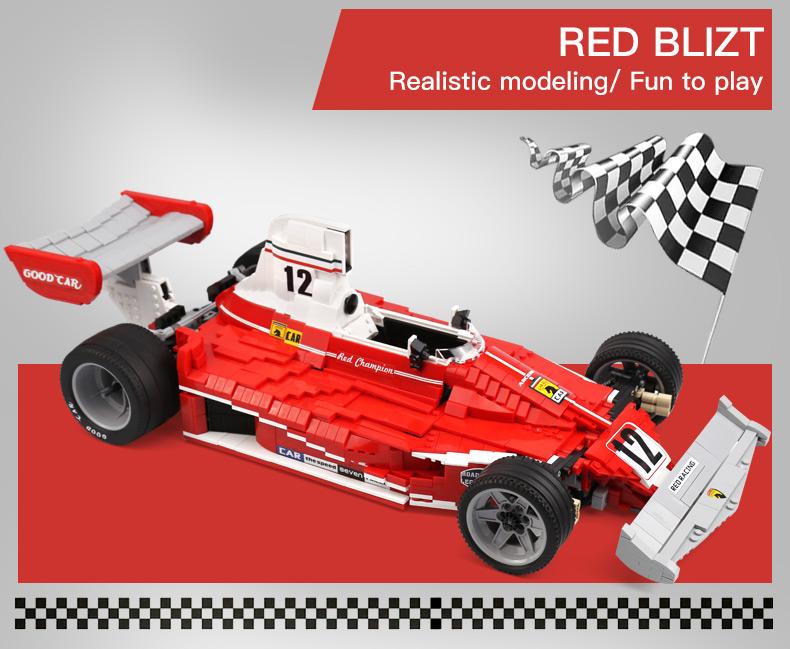 XingBao XB-03023 Red Power Racing Car Ferrariii 312T Building Block 33