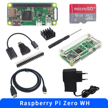 Headers GPIO Acrylic-Case Raspberry Pi Zero-Wh-Ram Bluetooth HDMI with Wifi 40pin 40pin
