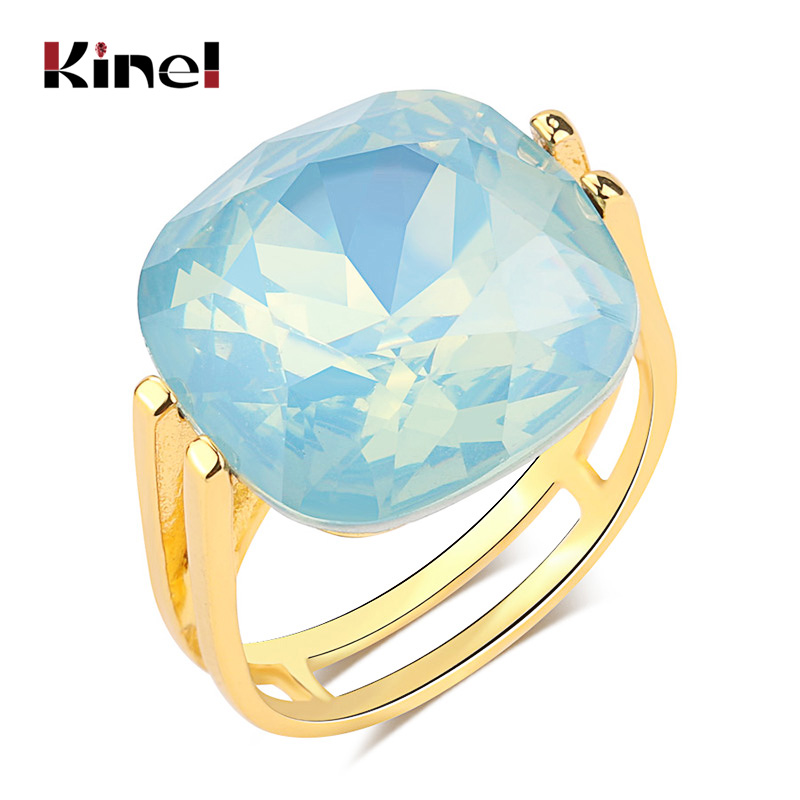 Kinel-2020-Fashion-Square-Blue-Opal-Stone-Wedding-Rings-For-Women-Gold-Color-CZ-Zircon-Ring