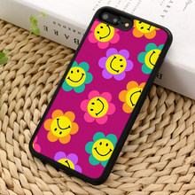 Чехол для телефона LvheCn Smiley с цветами, чехол для iPhone 4, 5, 5s, SE, 5C, 6, 6 s, 7, 8, 10, X, Samsung Galaxy S5, S6, S7 edge, S8, S9 plus, note 8(Китай)