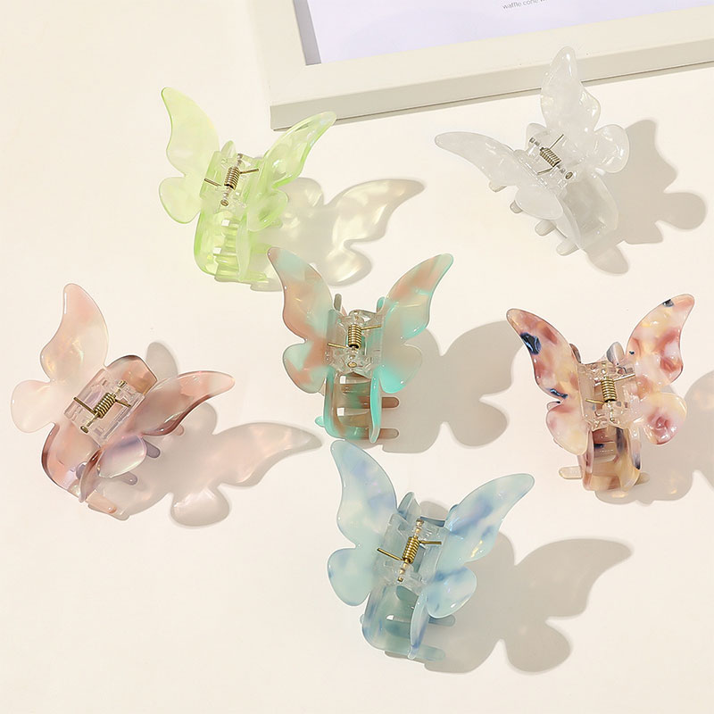 Details about  /Accessoires Hair Clips Acrylic Hairpins Acetate Hair Claws Leopard Hair Crabs