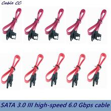 45cm 18 inch straight connector SATA 3.0 III high speed 6.0 Gbps data cable with latch Q99 DJA99 best price 5pcs