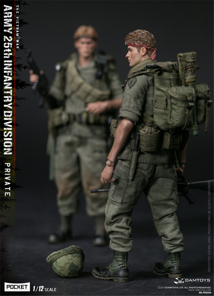 """DAMTOYS 1//12th PES004 The Vietnam War Figure backpack Model For 6/"""" Doll"""