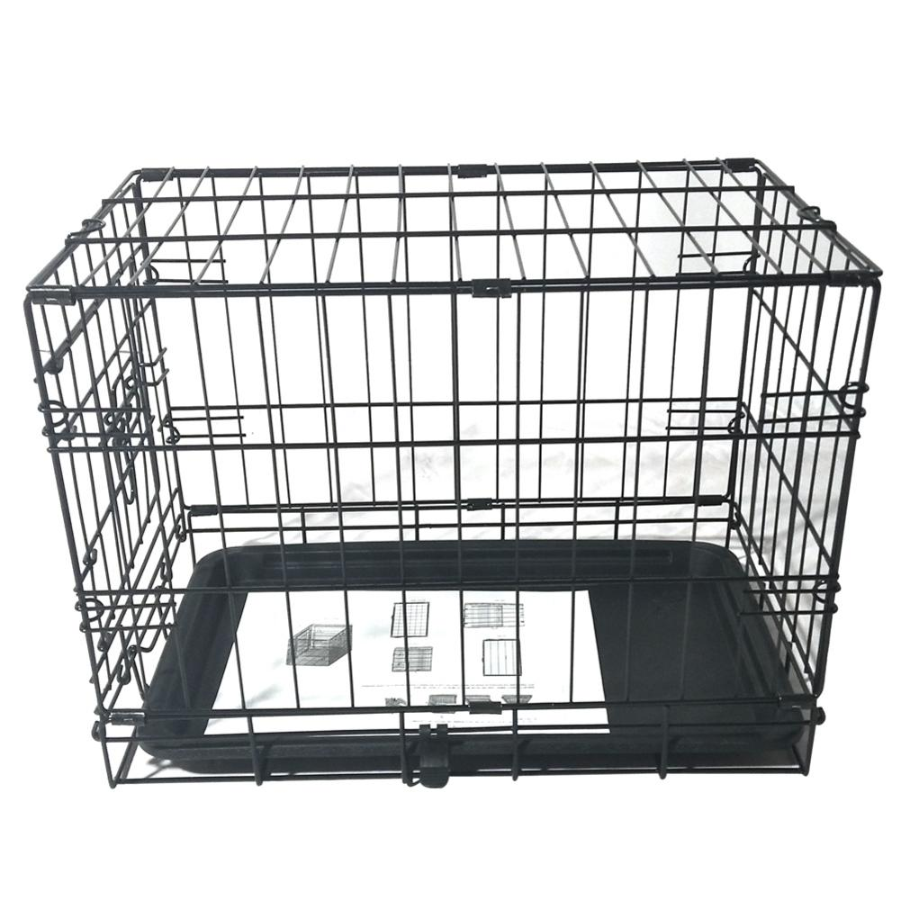 Shopping Cart - 20inch Black Steel Dog Crate Pet Kennel Wire Metal Cage