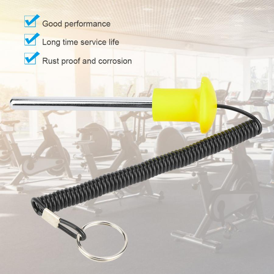 Yellow 10 * 105 Owlike Fitness Accessories Belt Magnetic Weight Stack Pin Stack Training