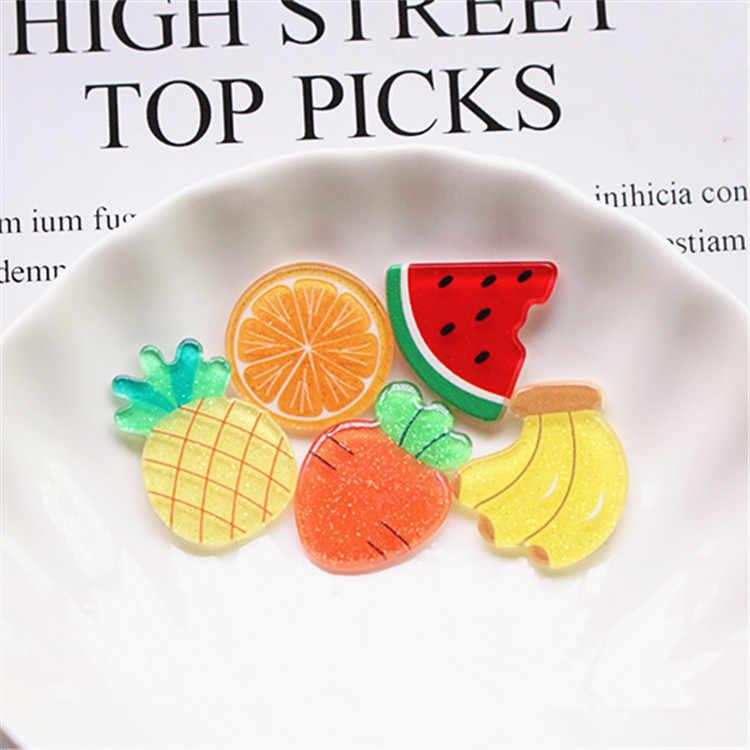 30pcs Mini Orange Slice Resin Flatback for Fruit Garden Ornaments