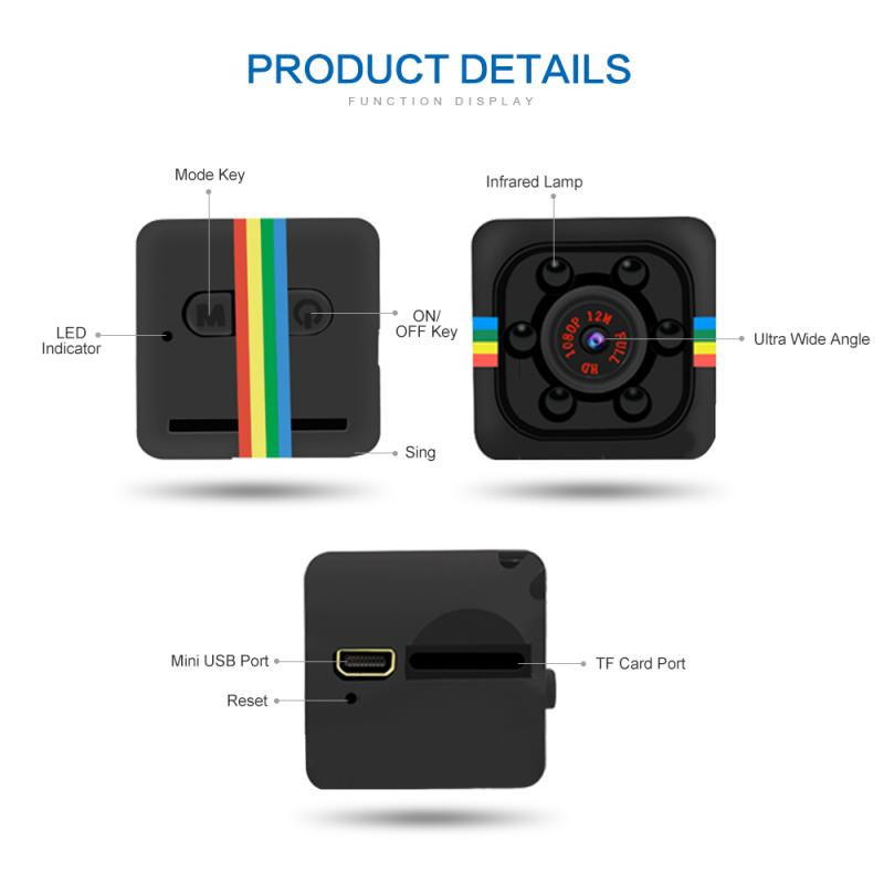 Electronics - Mini Camera HD 1080P Night Vision Motion Sensor Micro Video Camera