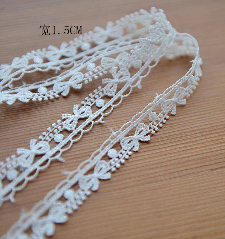 1 Yards Venise Butterfly Lace Trim Wedding DIY Crafted Sewing Black and Gold