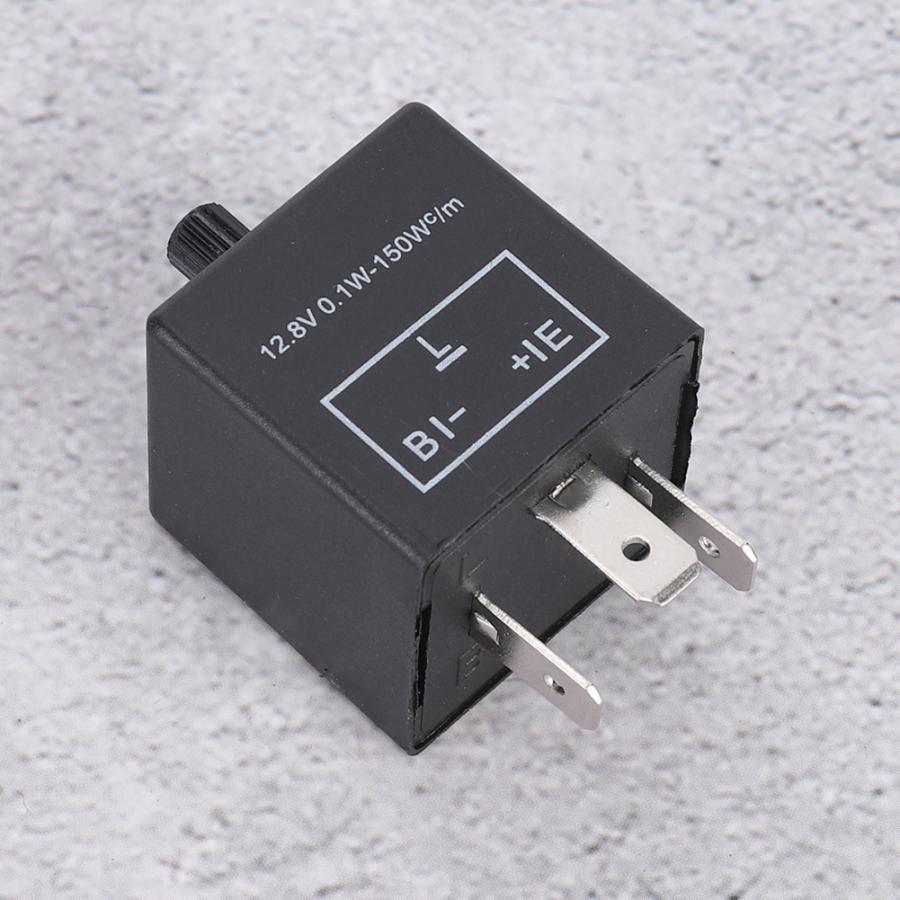 12V 3 Pin Rel/é de Intermitencia de LED Fijar Se/ñal de Giro Intermitente Flash CF13JL-02 EP-34 Rel/é de Intermitencia de LED
