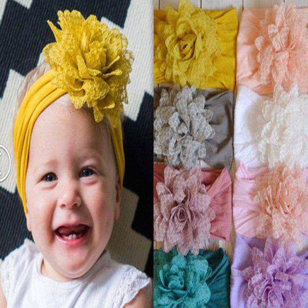 Kids Solid Headband Baby Chiffon Elastic Headband Headdress Hair Photography Hair Band For Girl Children Hair Accessories