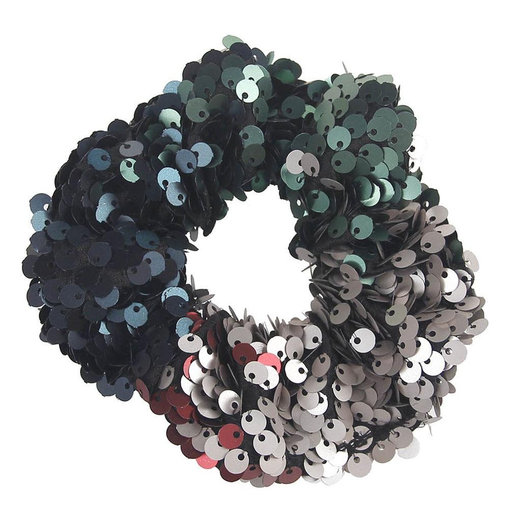 Fashion Sequin Women Scrunchie Glitter Hair Ties Girls Headwear Ponytail Holders Rope Elastic Hair Bands Hair Accessories 829