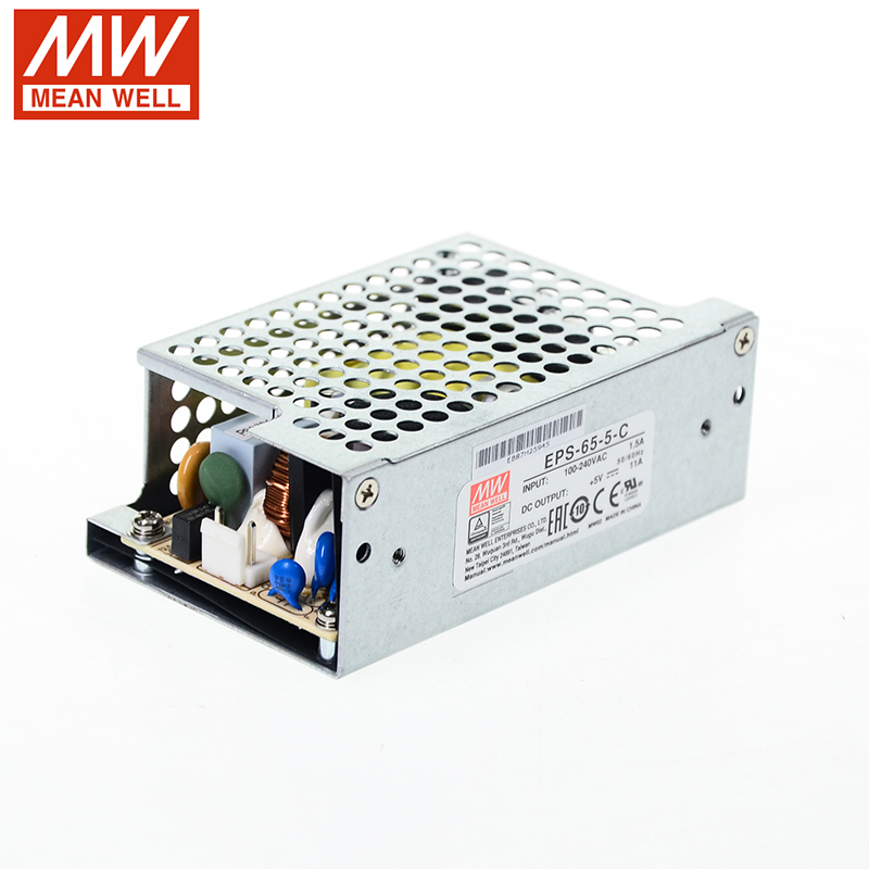 MW Mean Well EPS-65-5-C 5V 11A 55W Single Green Open Frame Output Switching Power Supply