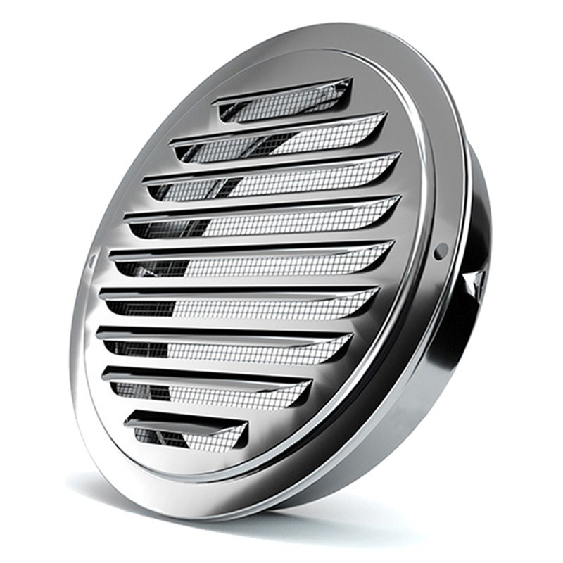 Stainless steel Exterior wall air outlet vent grille 70-200mm round duct cap air ventilation cover hole plug ventilation system