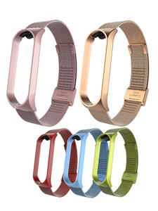 Bracelet Strap Wristbands Stainless-Steel Metal Pulseira for Compatible 4 4-3