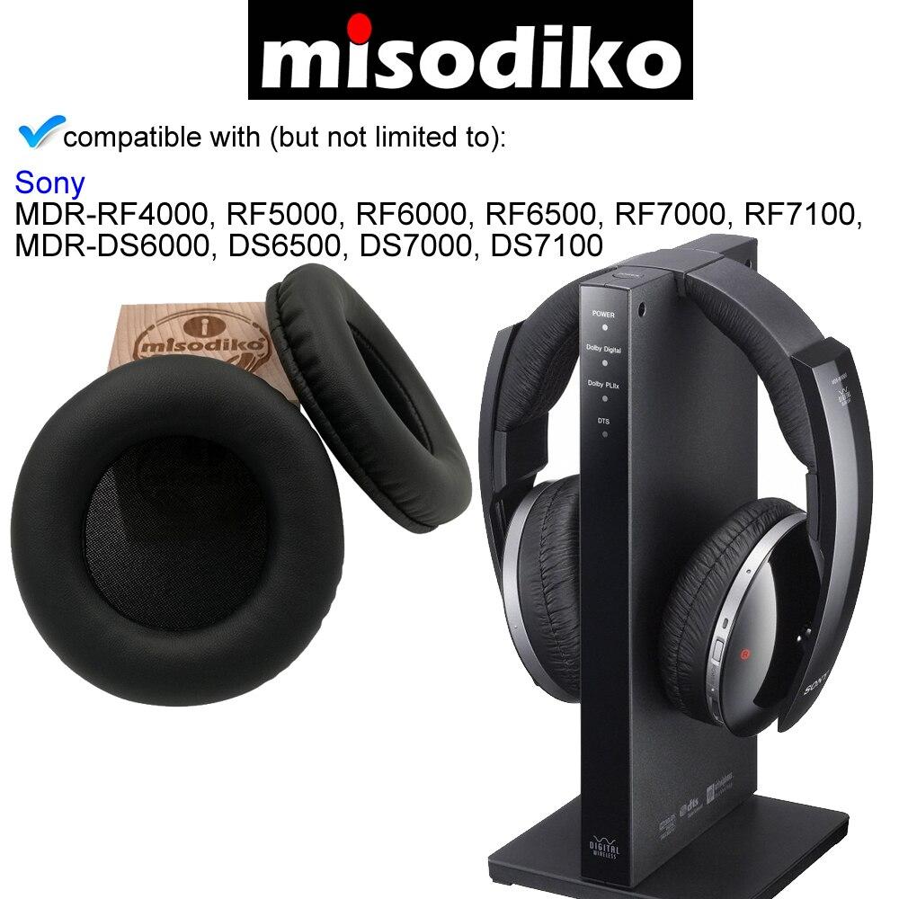 1/par de almohadillas de repuesto para auriculares de diadema MDR-RF865R y MDR-RF865RK.