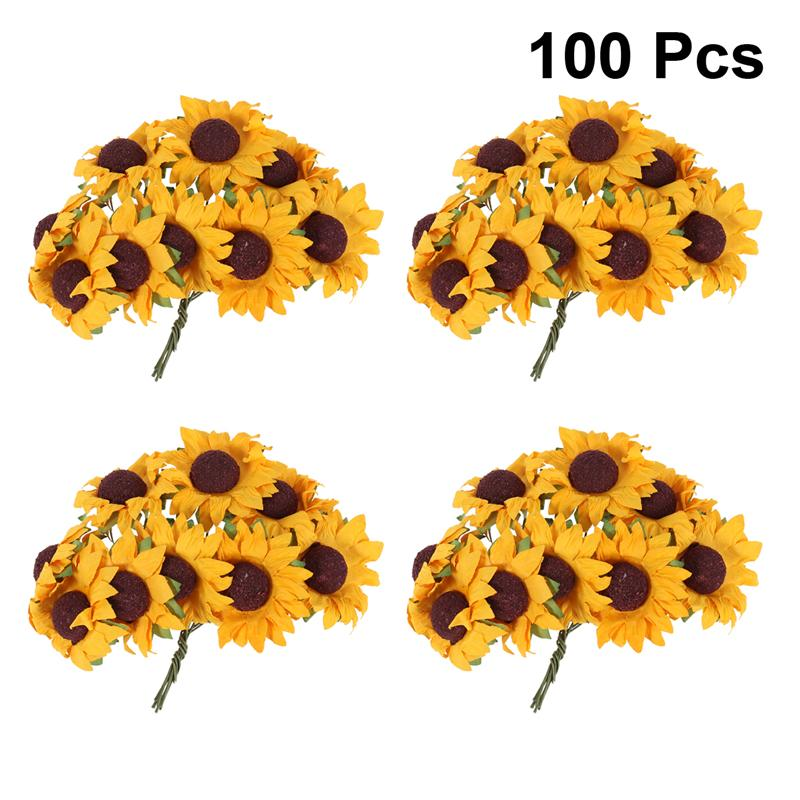 NICEXMAS Chic Mini  Artificial Paper Sunflower Home Party Decorations Props W…