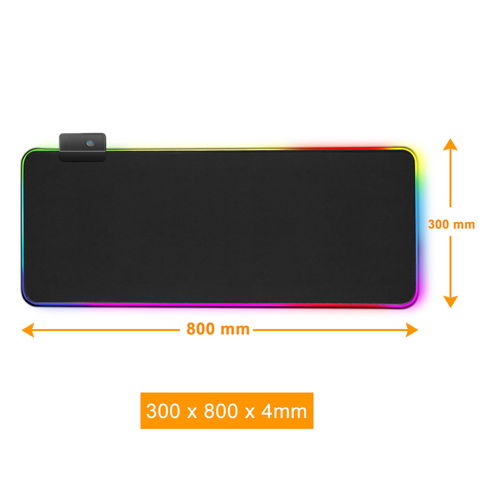 Mat - RGB Mouse Pad Gaming Mouse Pad Large Mousepad XXL Computer Mousepad RGB XL Mouse Pad Gamer Mousepad Keyboard Pads USB Mouse Mat