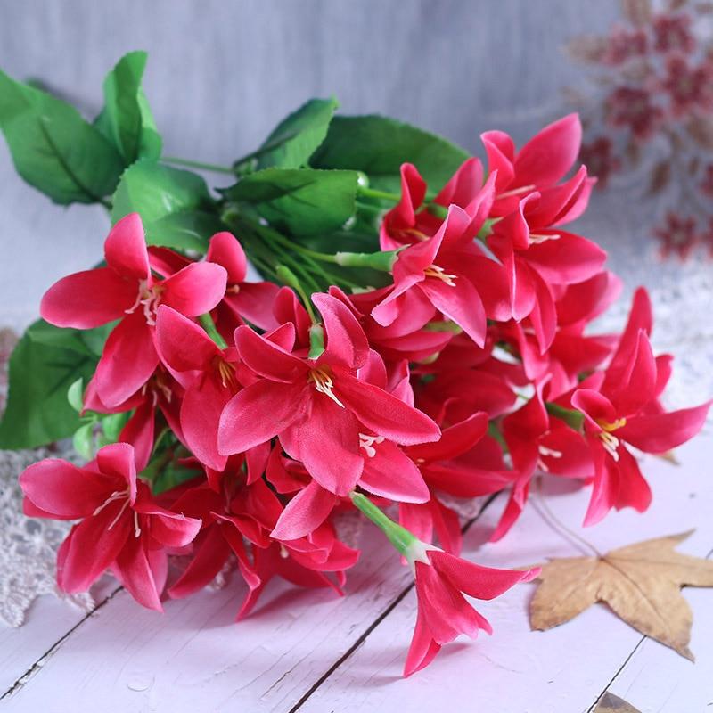 Outdoor Plants Garden Grass Lily Tulip Plastic Flowers Fake Artificial False