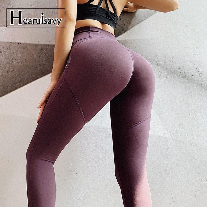 Women Push Up Yoga Leggings Scrunch High Waist Gym Sports Pants Running Trousers