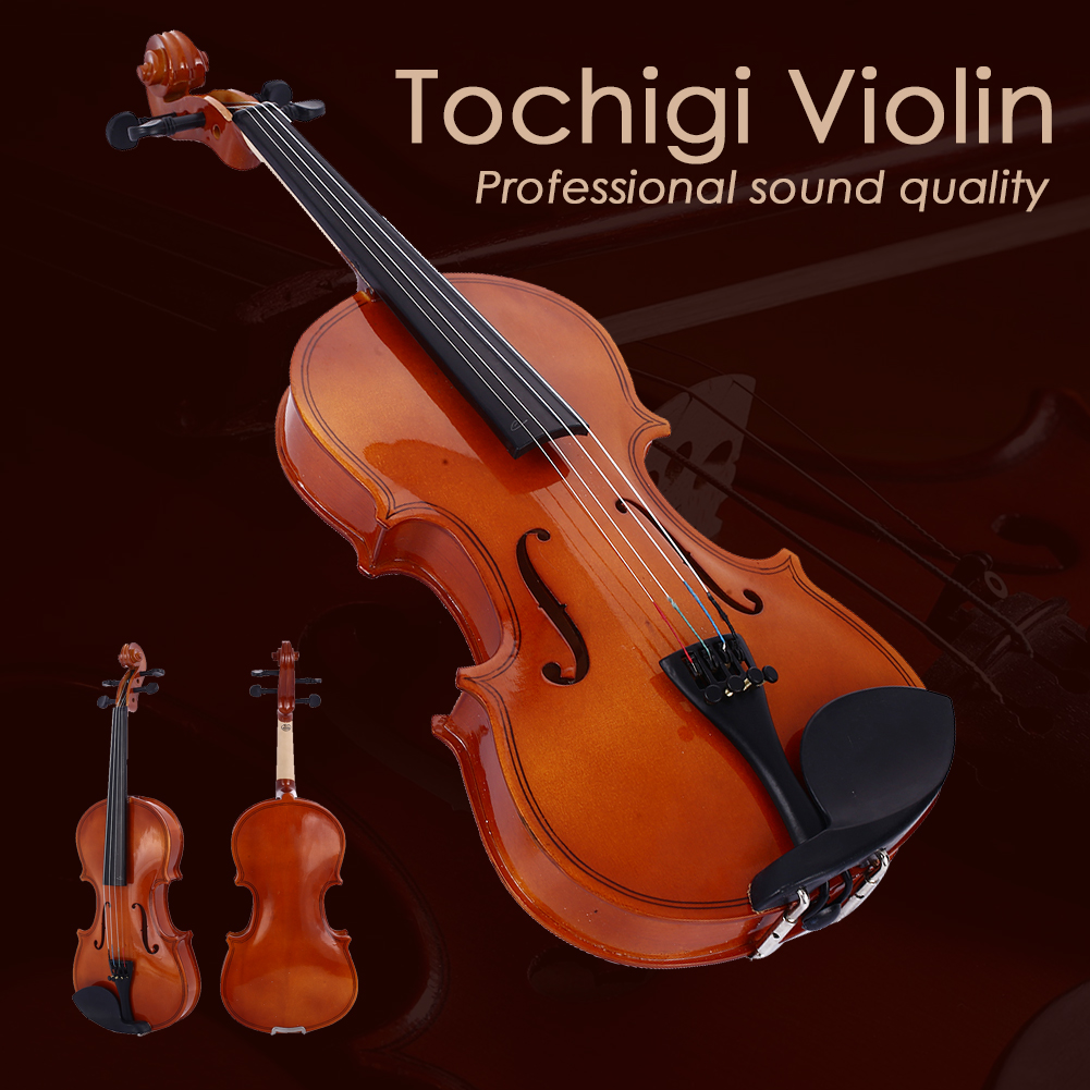 Violin Musical-Instruments Gifts Oak-Wood Red Beginner Playing Practical Bright Durable title=