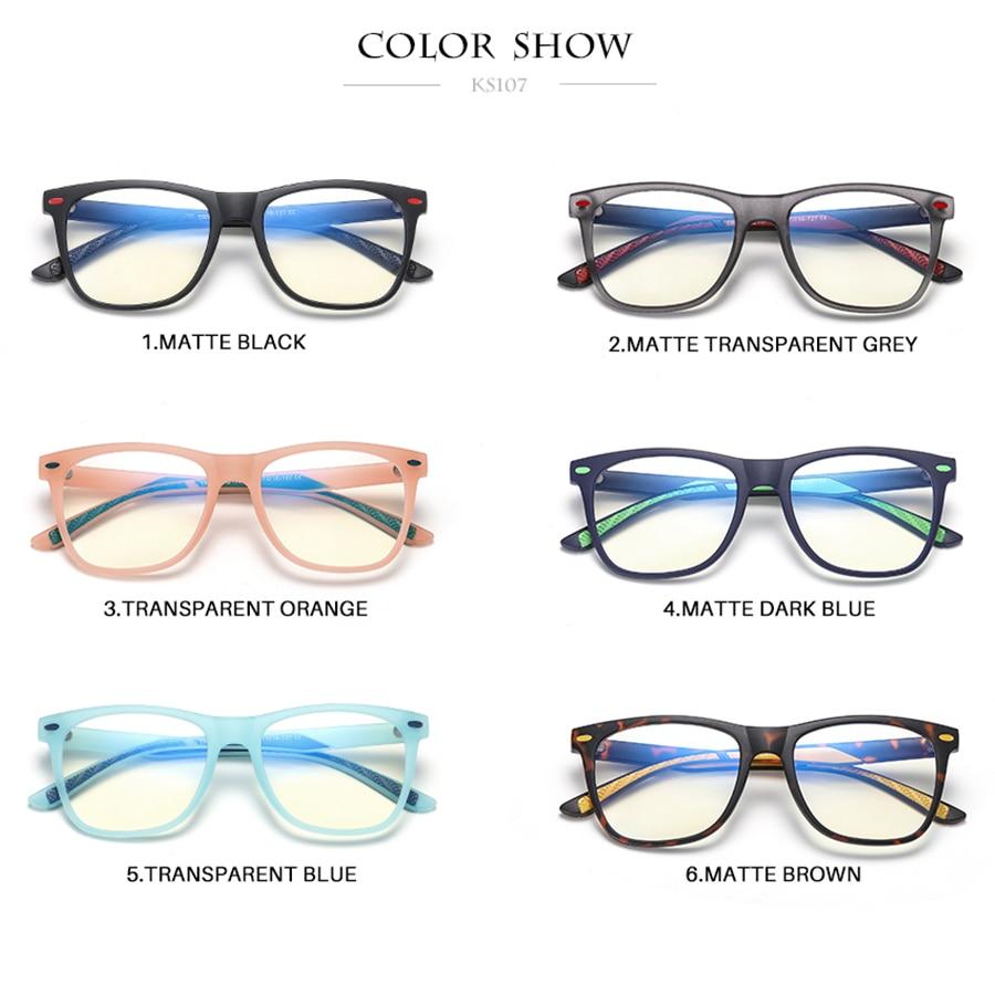 Kisunrise New Children TR Anti-blue Student Eyewear Boy Fashion Frame Glasses Girl Kids Eyeglasses KS107