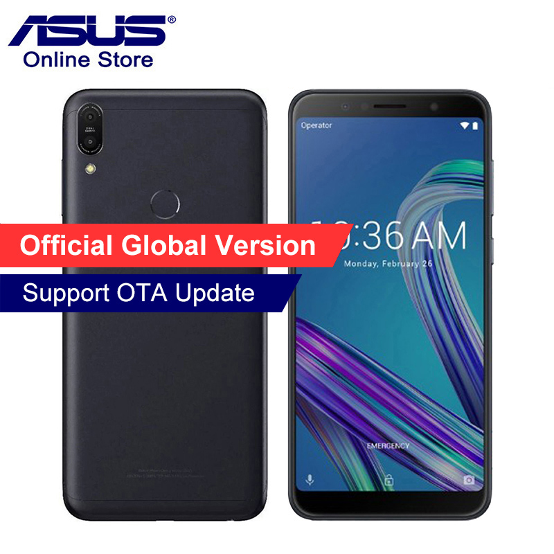 Global Version 2018 ASUS ZenFone Max Pro M1 ZB602KL Mobile Phone 4GB 64GB 6inch 4G LTE Smartphone Snapdragon 636 In Stock title=