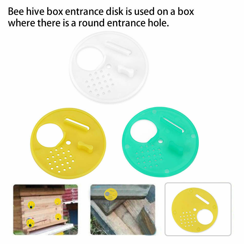 Bee Hive Nuc Box Entrance Gate Tool 12X Plastic Bee Nest Door Entrance Disc