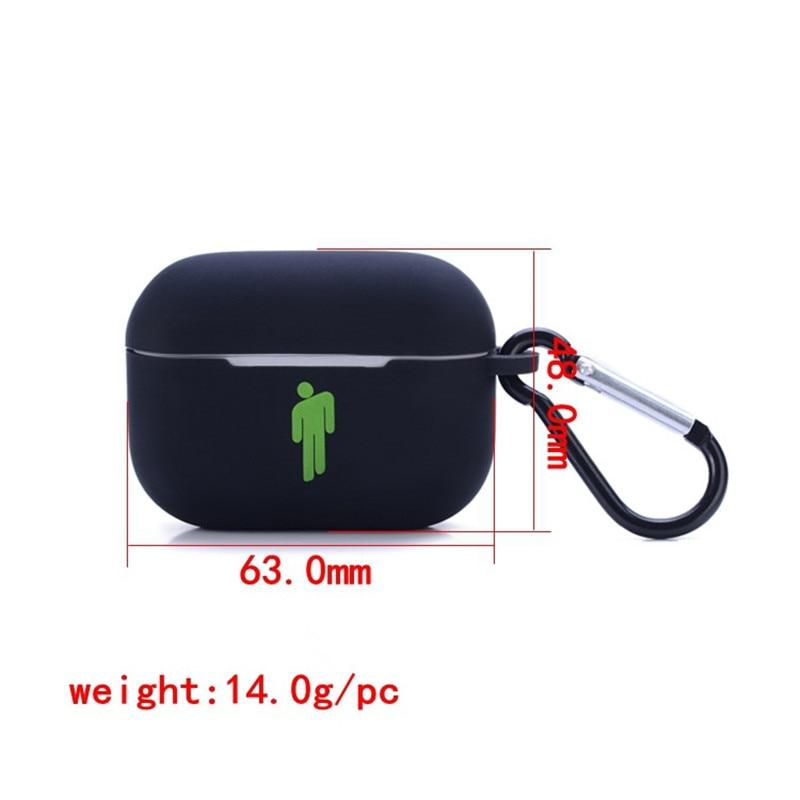 10PCS/Lot Rapper Billie Elish airpods pro3 Generation Silicone Headphone Case Keychain Bag Pendant Key Chains llaveros Jewelry