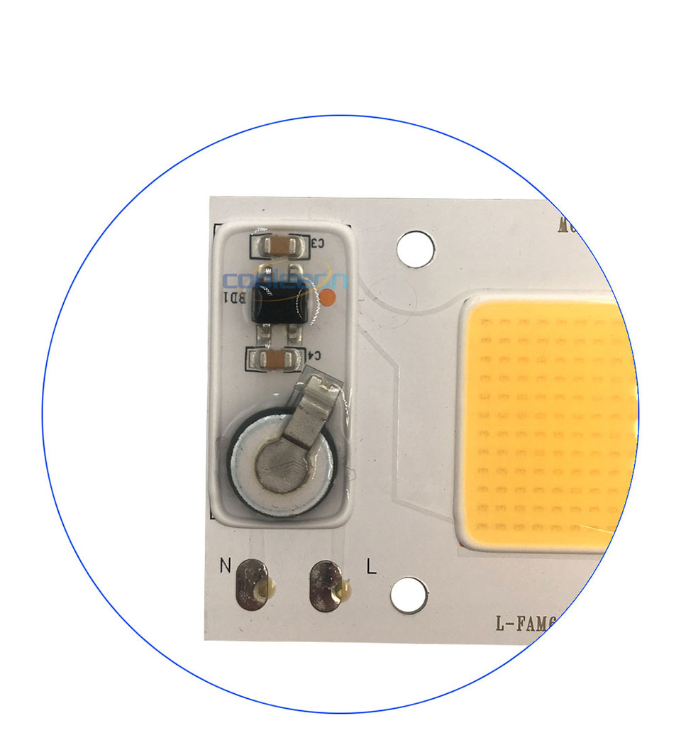 Full Spectrum COB LED Lamp 50W 95% RA 220V AC COB Chip Smart IC for Plant Frow Lights Floodlight Lighting Source Warm Cold White (5)