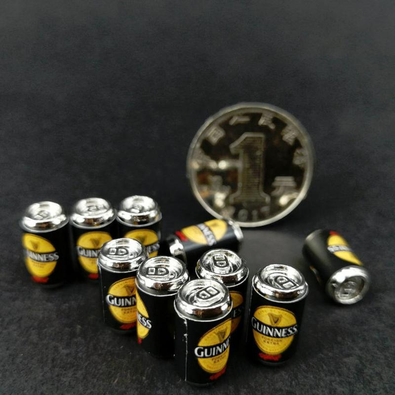10Pcs//Set Beer Cans 1//12 Dollhouse Miniature Scene Beer Cans Toys Kid Model B202