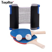 Trainning-Set Racket-Blade Table-Tennis Sports-Equipment Ping-Pong Professional Mesh-Net
