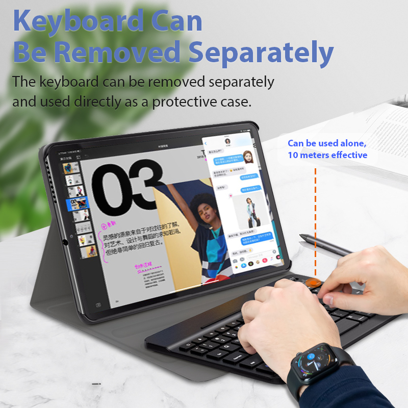 Keyboard Case for Lenovo Tab M10 Plus TB -X606F TBX606X 2020 Wireless Keyboard for M10 FHD 2nd Gen Bluetooth Keyboard Cover