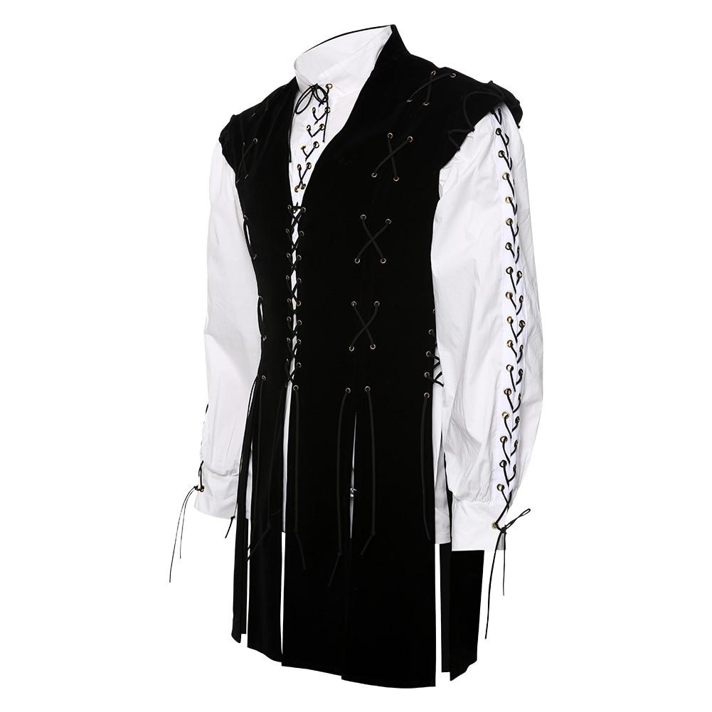 Men/'s Vest Knight Medieval Clothing Costume Shirt Cosplay Uniform Halloween Carnival