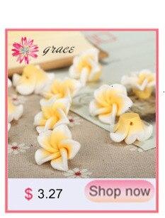 20pcs Mixed Polymer Clay Fleur Perles Lot 12 mm 15 mm 20 mm 30 mm Handmade Craft