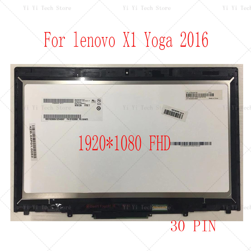 """14/"""" For Lenovo ThinkPad X1 Yoga 2nd Gen 20JD 20JE FHD LCD Touch Screen Frame"""