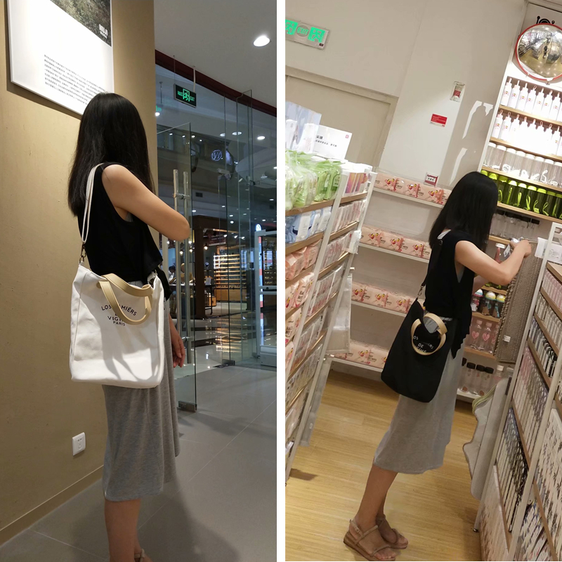 Hand-held and Slung Dual-purpose Bag Lunch Box Bag Lunch Box Bag Lunch Bag Canvas Eco-friendly Bag
