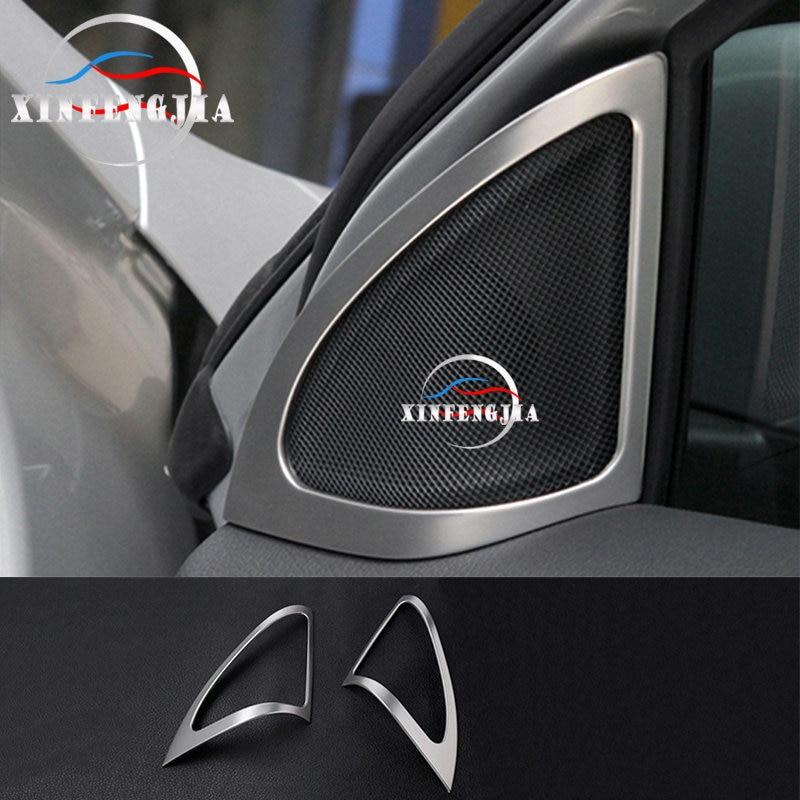 S//Steel Front Door Stereo Speaker Cover trim Chrome Benz GLA-Class X156 2013-17