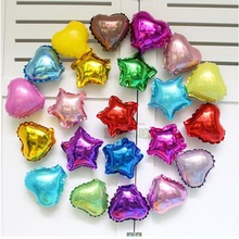 Helium Ballons Party-Decoration Star-Foil Air-Globos Wedding Heart 5inch 100pcs Colorful