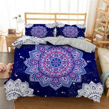 ZEIMON 3d Bedding Cover Mandala Printed 2/3pcs Duvet Cover Sets Bohemia Soft Microfiber Bedclothes Luxury Home Textiles(China)