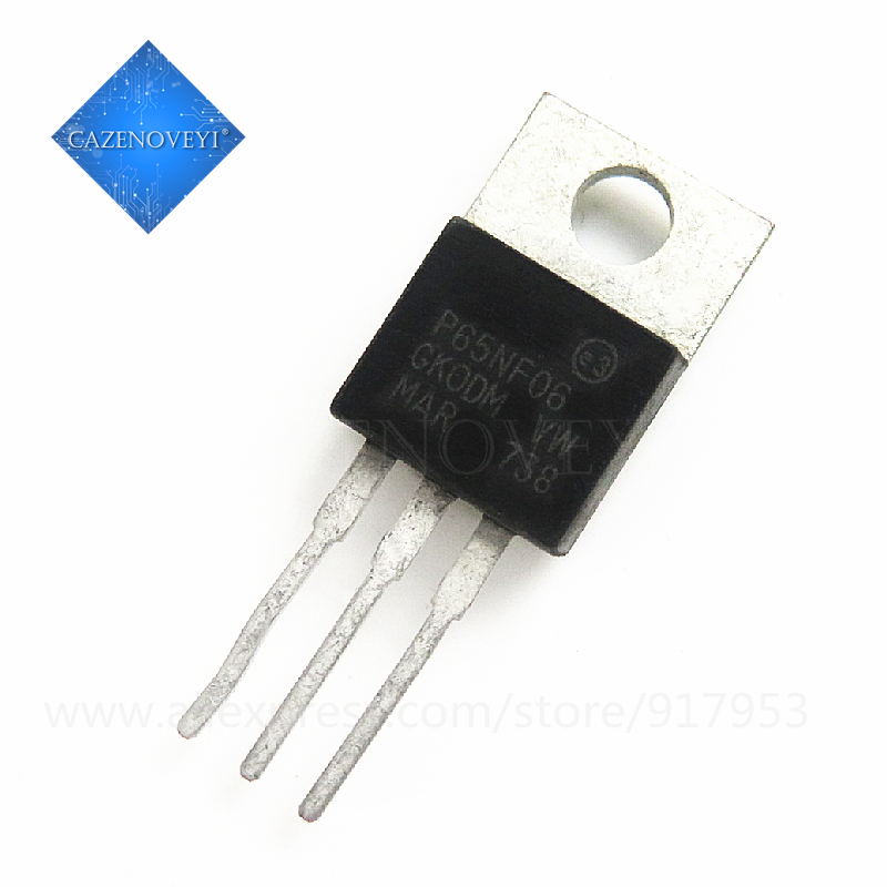 10pcs/lot STP65NF06 P65NF06 65NF06 60V 60A N CH TO 220 In Stock|Интегральные схемы| |