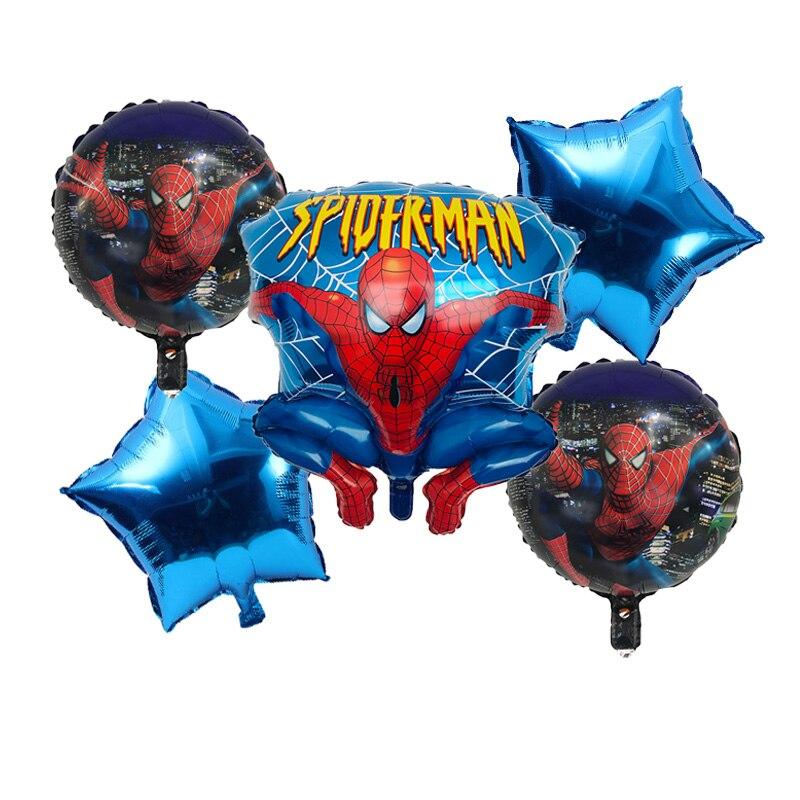 Spiderman Balloon Polka Dots Balloon Spider Man Party Inflatable Helium 5Pcs//lot